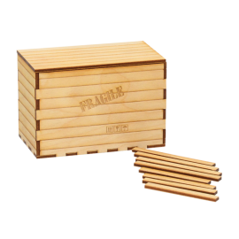 Covered Wooden Freight Crate